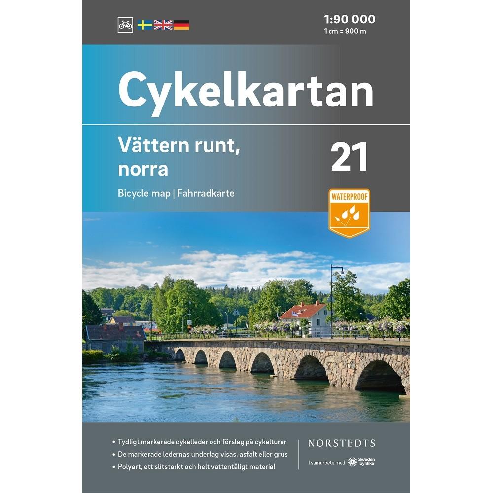 Cykelkartan 21 Vättern runt - Norra