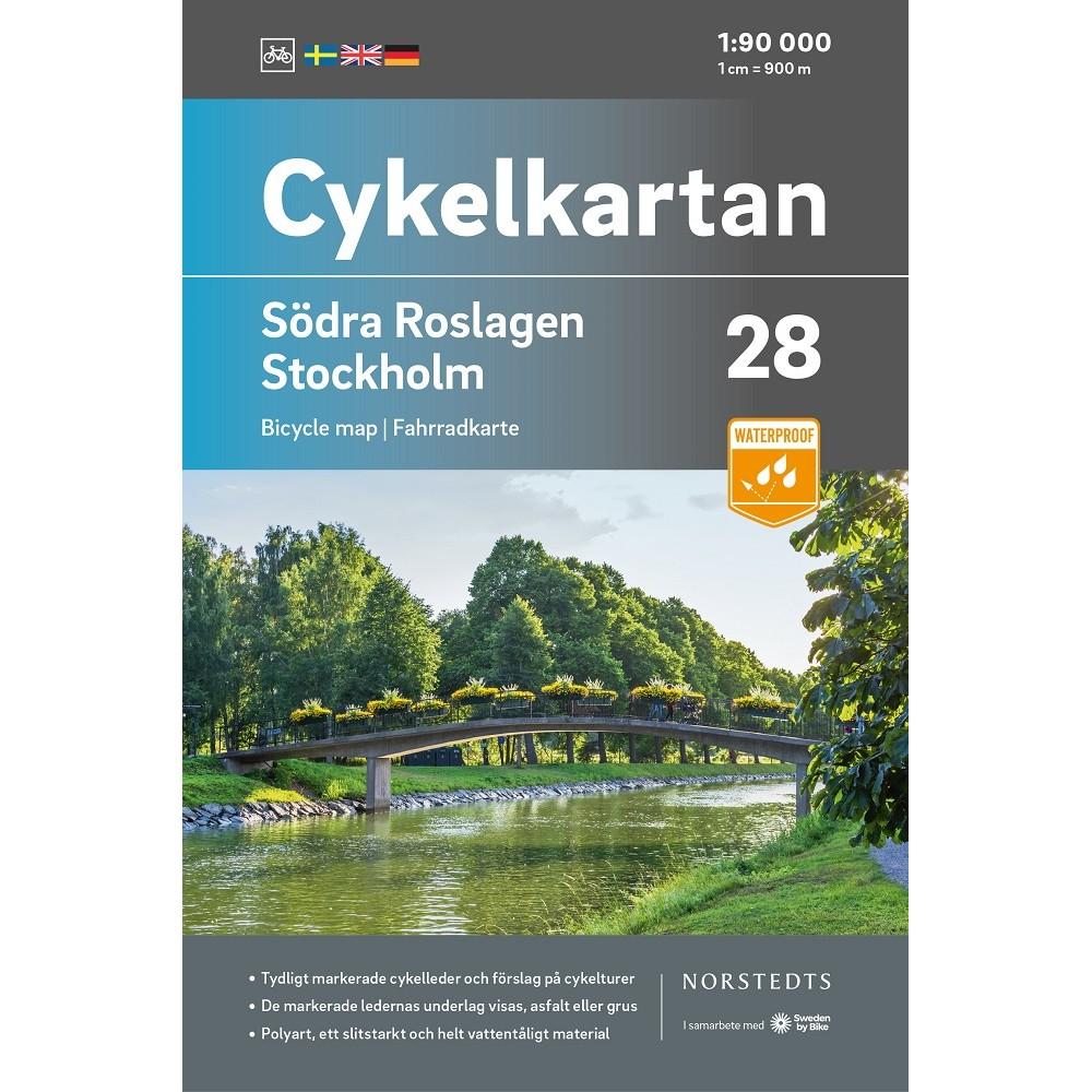 Cykelkartan 28 Södra Roslagen/Stockholm