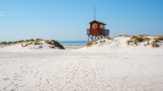 Rent a bike and cycle along beaches in Skanör-Falsterbo.