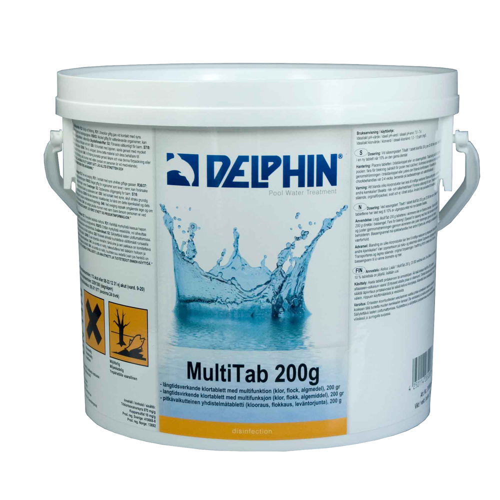 Delphin Pool Multitab 200g, 3 Kg