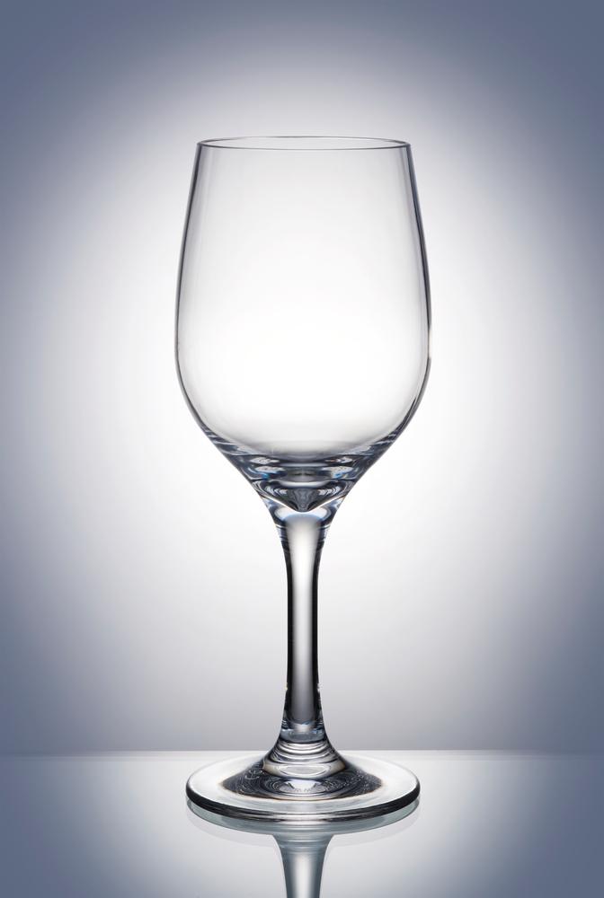 vinglas i klarplast
