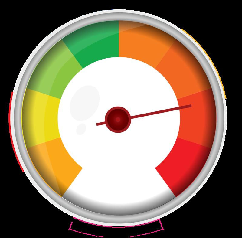 Det är viktigt att ta tempen på sin organisation för att veta hur medarbetarna trivs och hur arbetsmiljön ser ut. Ett sätt att presentera resultatet är med en temperaturmätare.