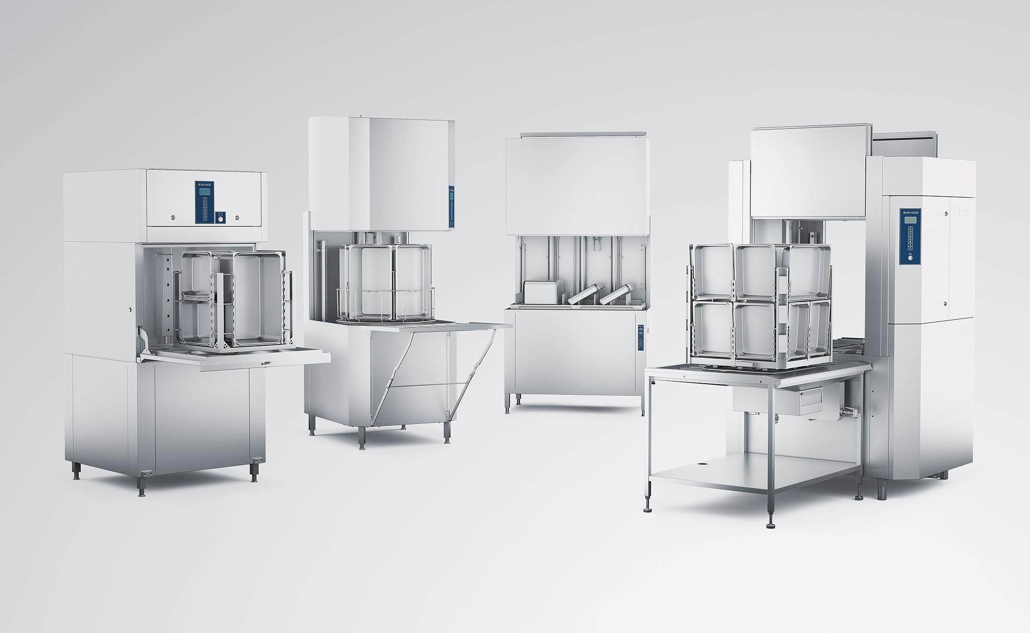fyra tvättmaskiner ur wexiödisks sortiment