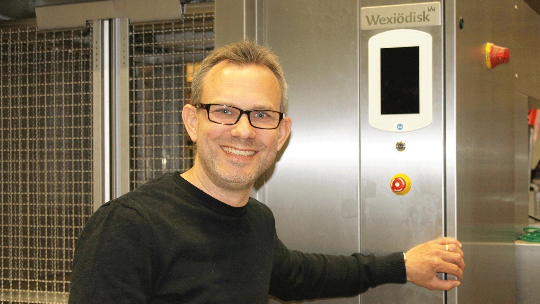 En av Wexiödisks utvecklings- och konstruktionsavdelning Andreas Norviit.