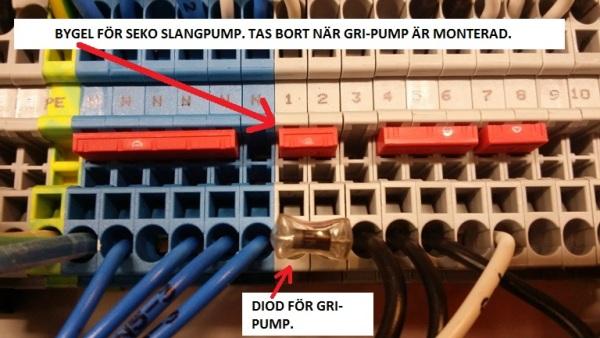 Bild av elektrisk koppling på WD-4S med instruktioner