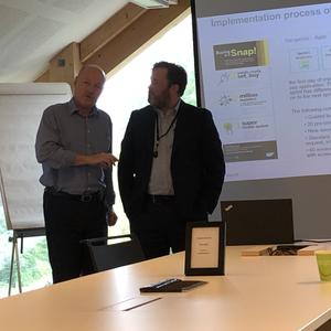 Jon Espen Kleven, EY Skye and Bryan Lindenskjold, SAP Danmark