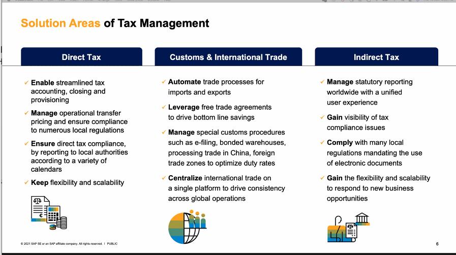 SAP Global Tax Management