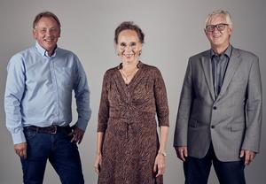 VP Kjell Jensen, CEO Eva-Maria Fahrer och P Kolbjørn Havnes -