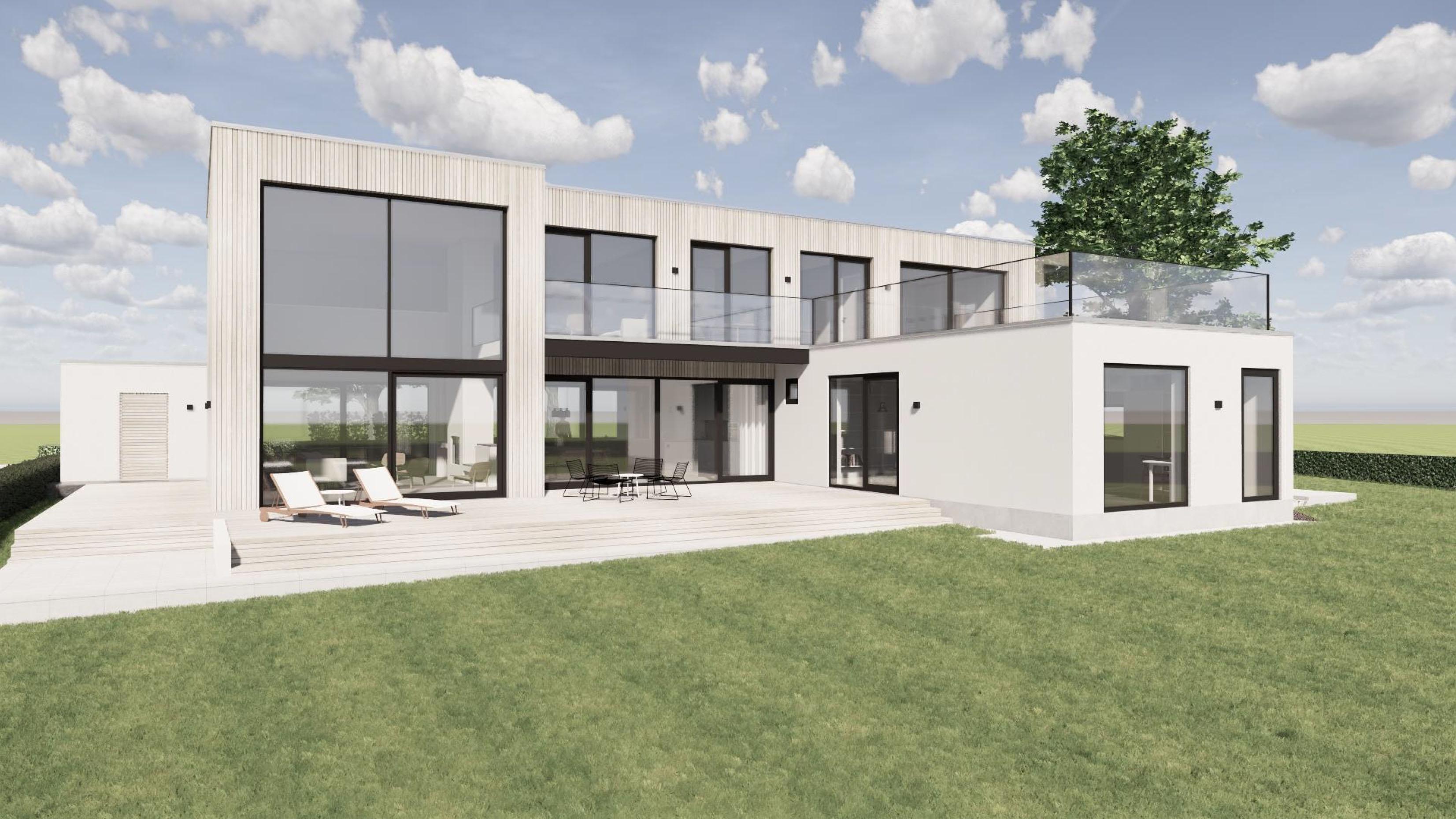 Nybyggnation av hus i Björkhagen