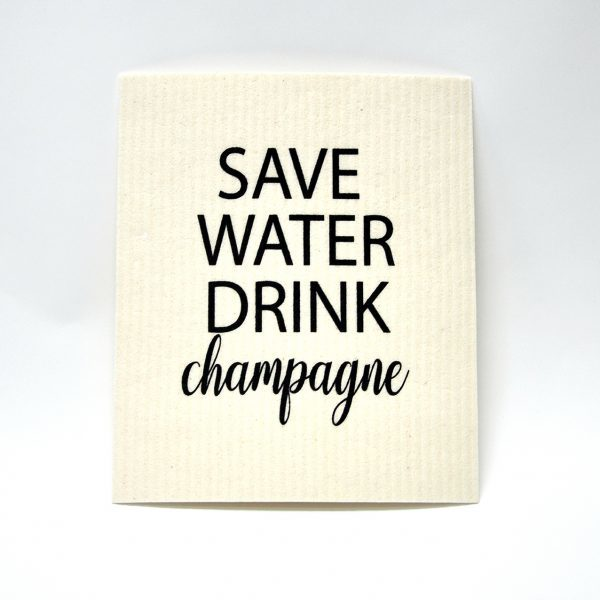 Mellow design disktrasa Save water and drink champagne
