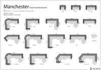 Manchester hörnsoffa m divan