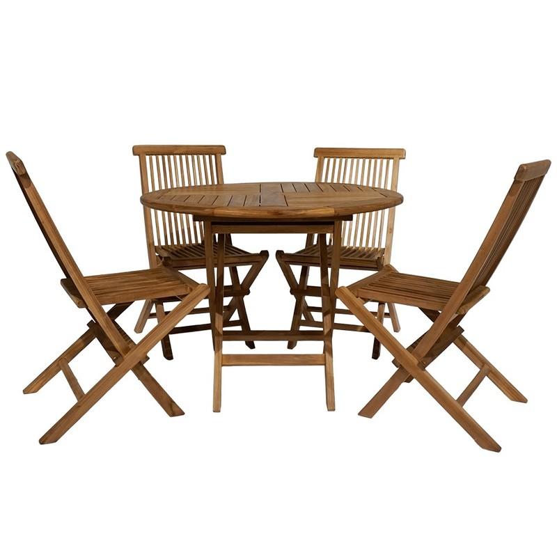 Bali matgrupp med 4 stolar