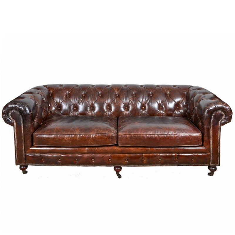 Vintage Chesterfield 3-sits