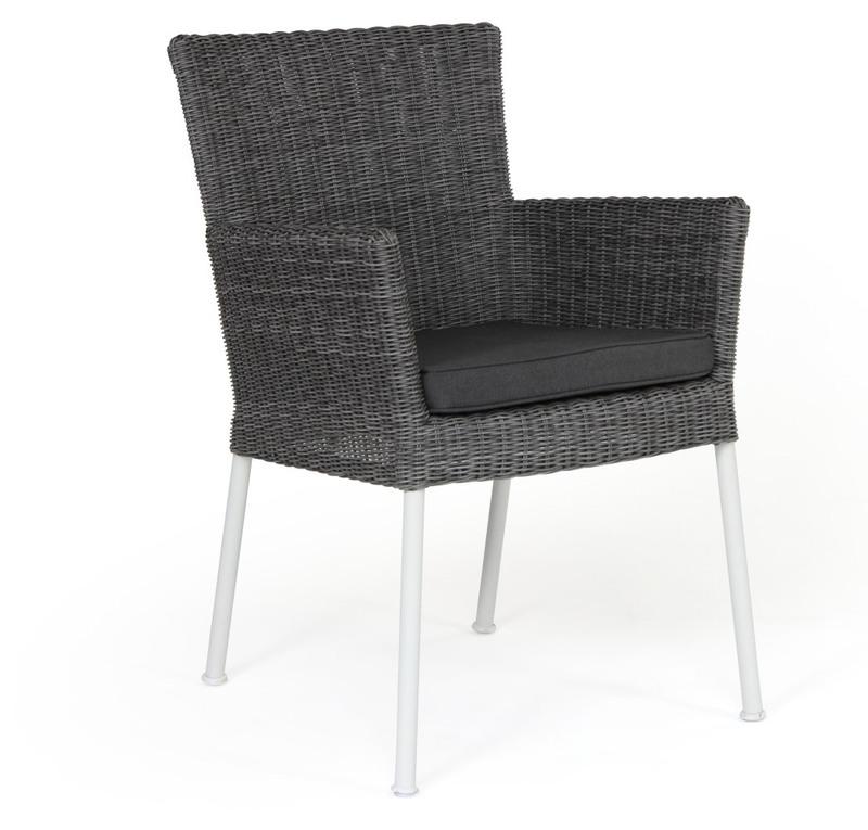 Somerset stol konstrotting grå-vit