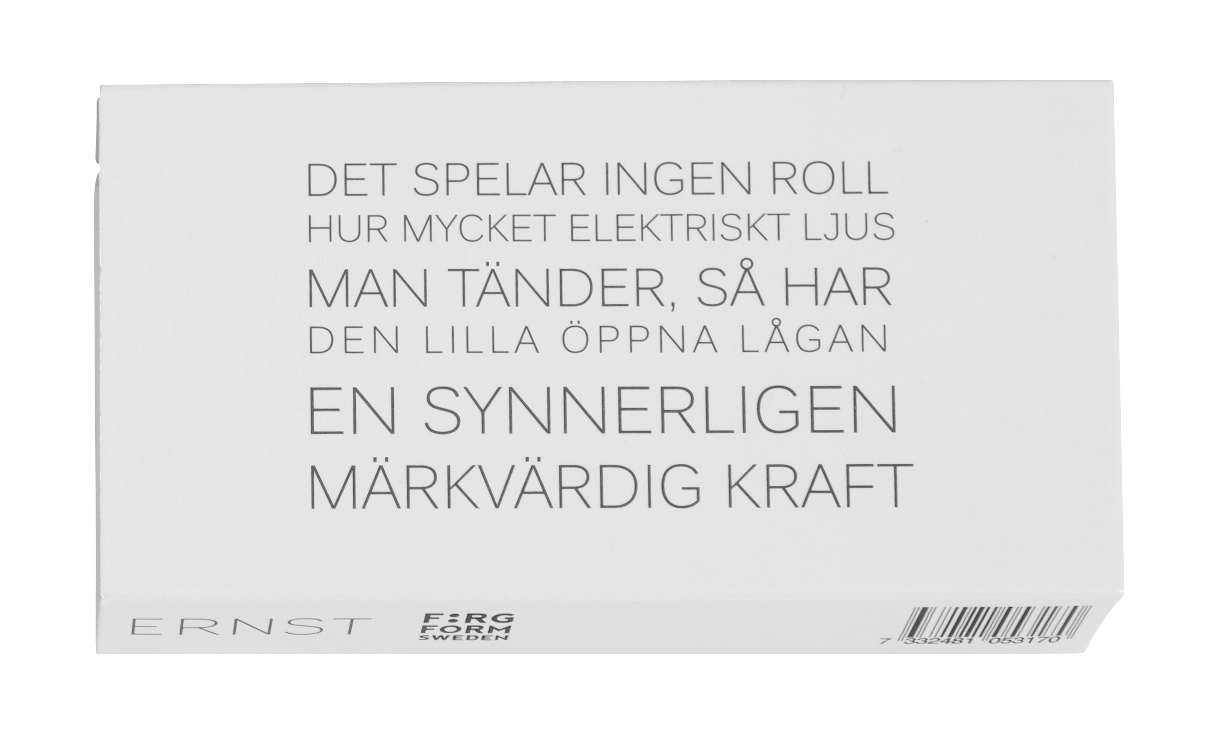 Ernst Tändsticksask med citat 24-pack