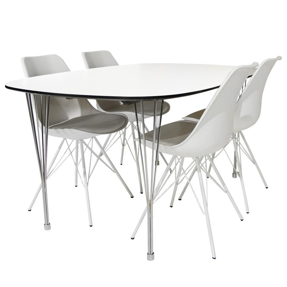 Niles/Paula matgrupp med 4 stolar