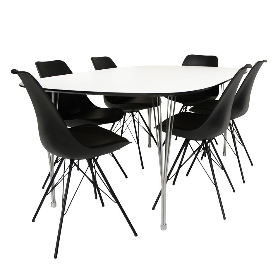 Niles/Paula matgrupp med 6 stolar