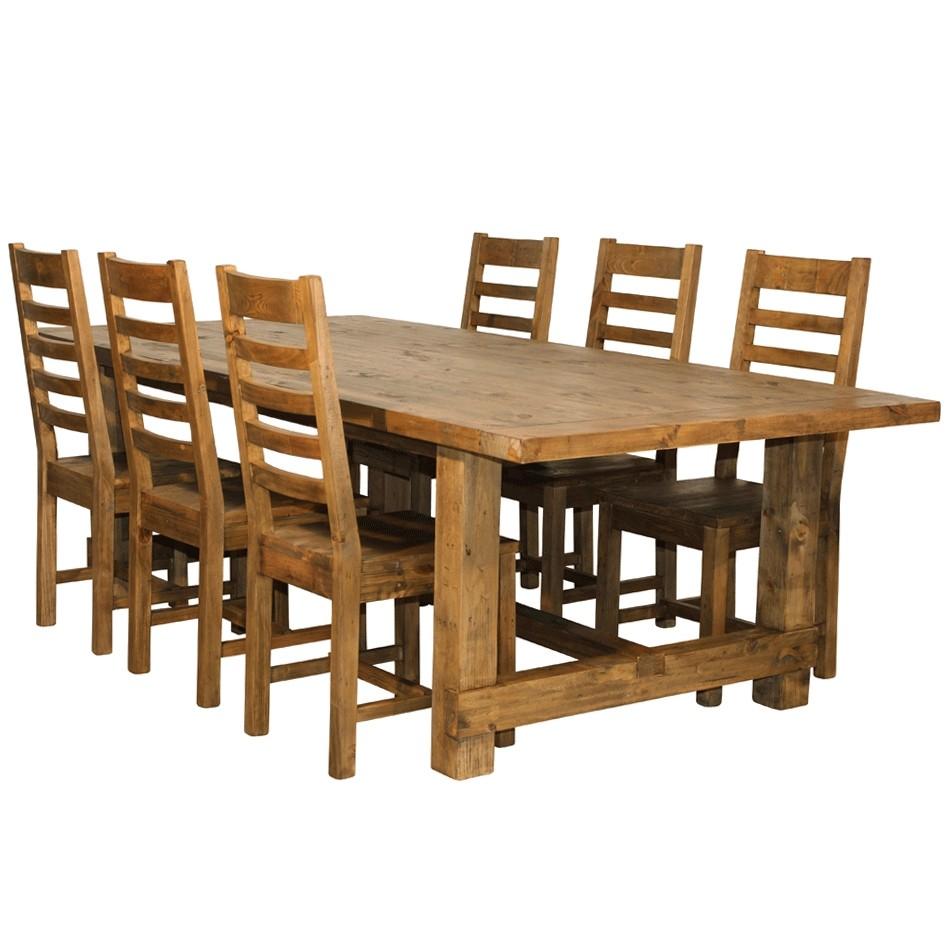 Oregon matbord med 6 stolar 250