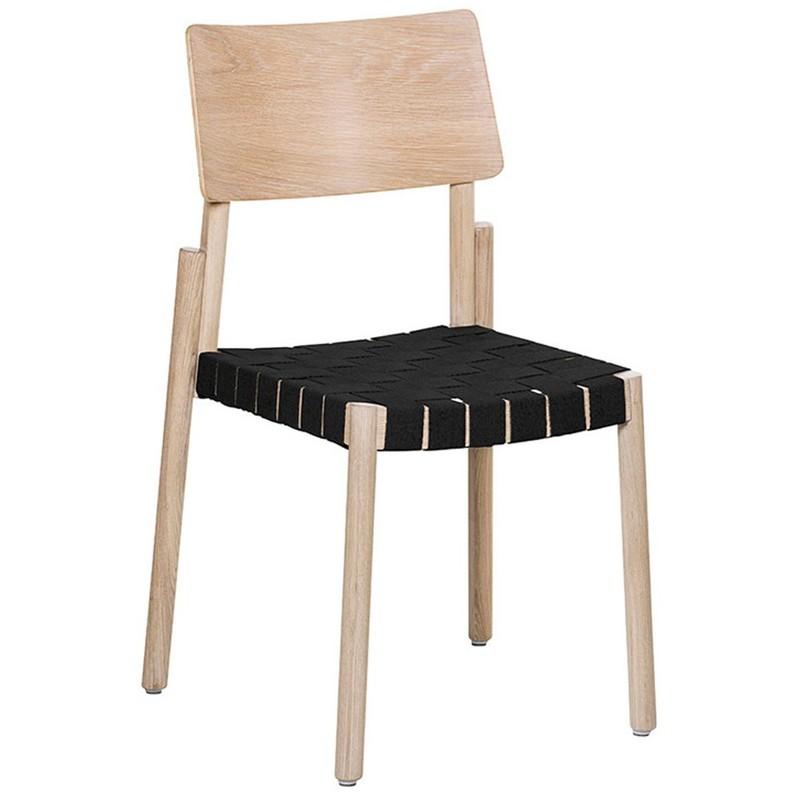 Flex stol blond/svart