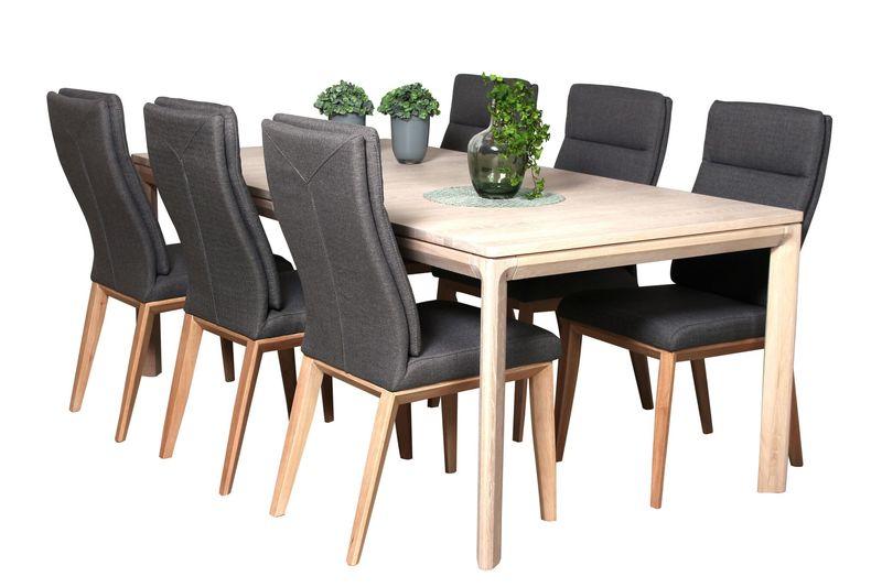 Stuttgart/ Horsens bord + 6 stolar