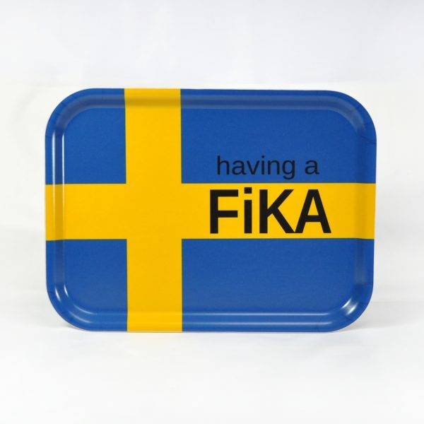 Mellow design Having a fika -Svensk flagga