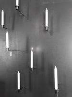 Grafitgrå väggkronljus