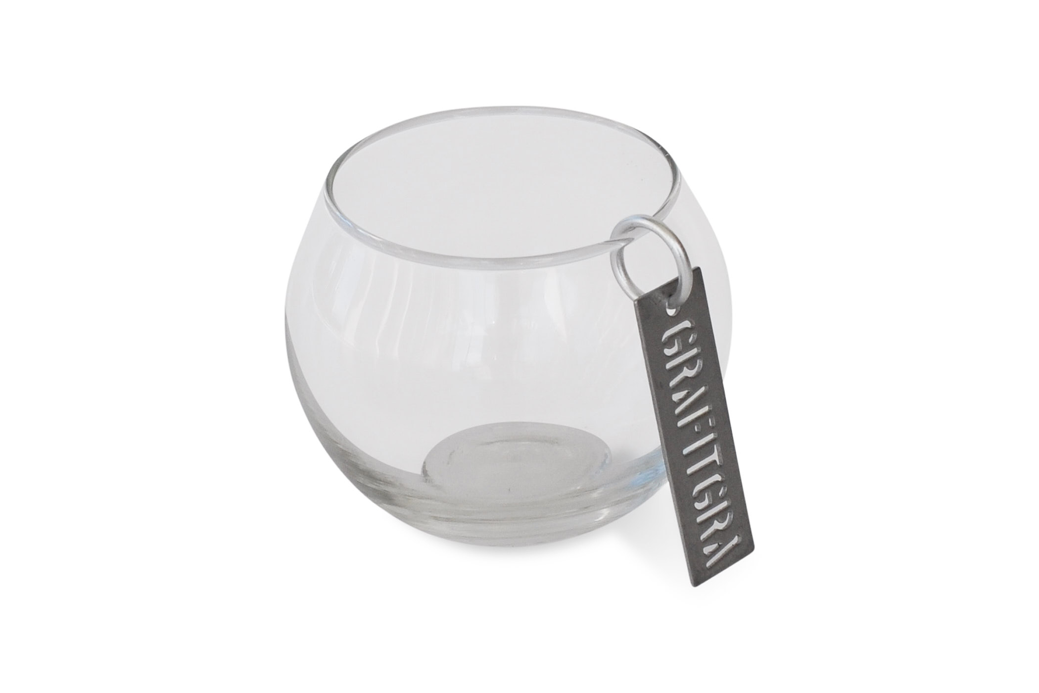 Grafitgrå Glasvas