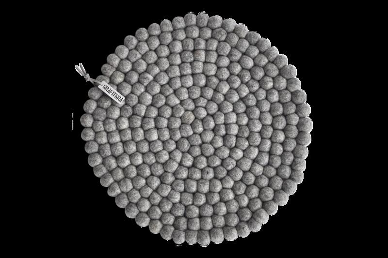 Grafitgrå underlägg 35