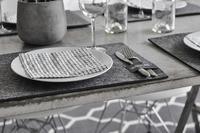 Grafitgrå Bordstablett kantig