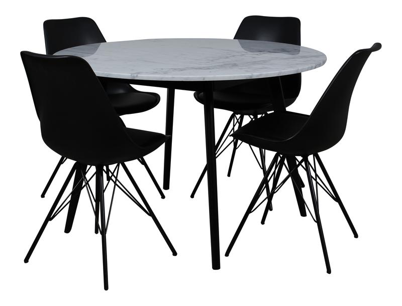 Capella-Paula bord+4 stolar