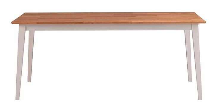 Filippa matbord oljad ek med vita ben