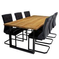 Narvik bord+6 stolar Latina