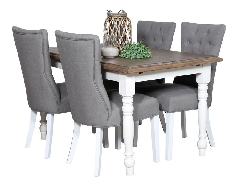New England-Fredriksborg bord+4 stolar