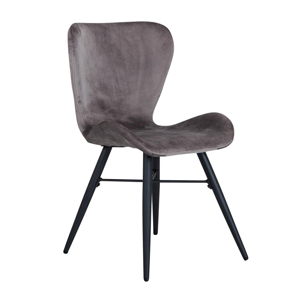Lugo stol grå sammet
