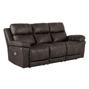 Goslar 3-sits soffa med recliner brun