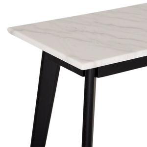 Capella avlastningsbord vit marmor/svart ek