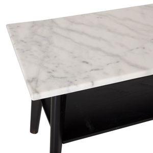 Capella mediabänk vit marmor/svart ek