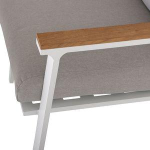 Westport hörnsoffa med bord vit aluminium