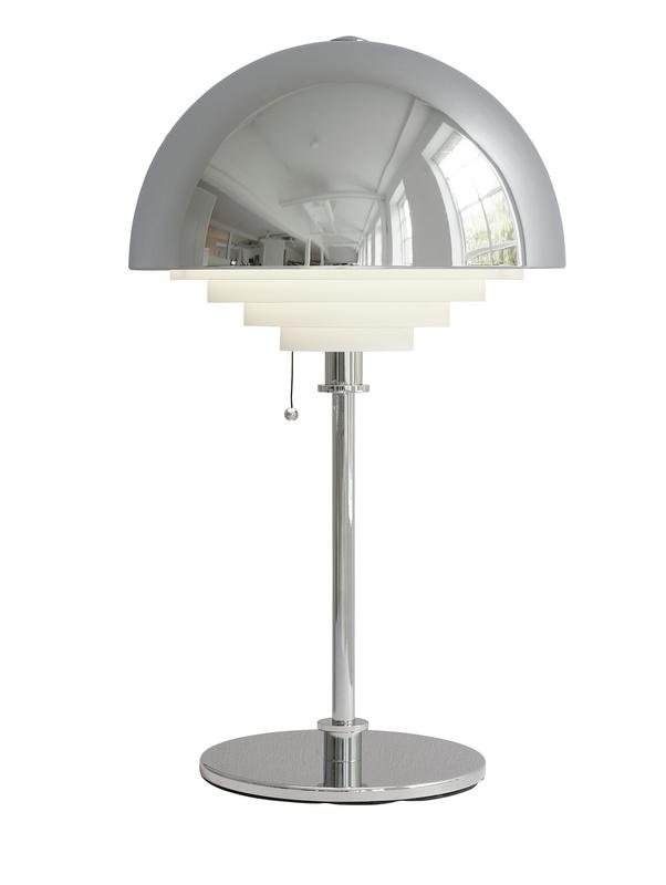Herstal motown bord lampa krom