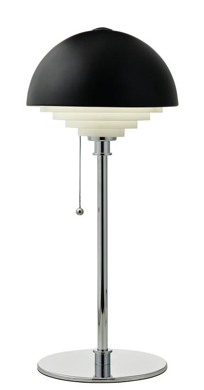 Herstal motown bord lampa svart