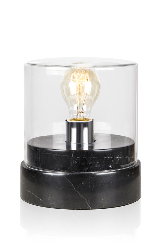 Globen Marmi wide bord lampa svart