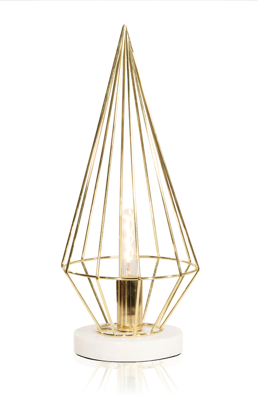 Globen Keops bord lampa mässing