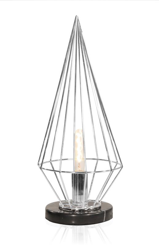 Globen Keops bord lampa krom