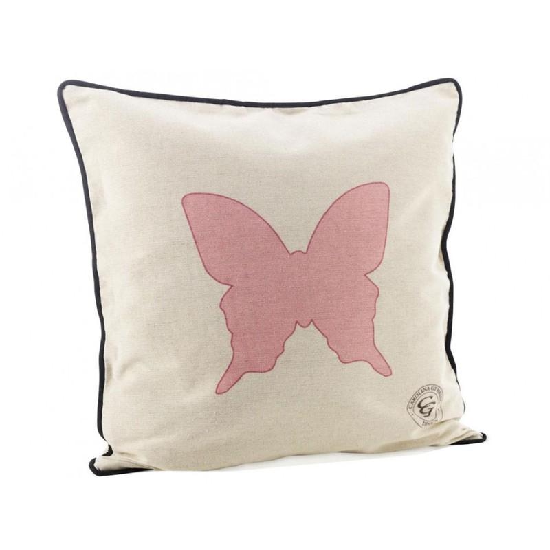 Carolina Gynning kudde Pink Butterfly