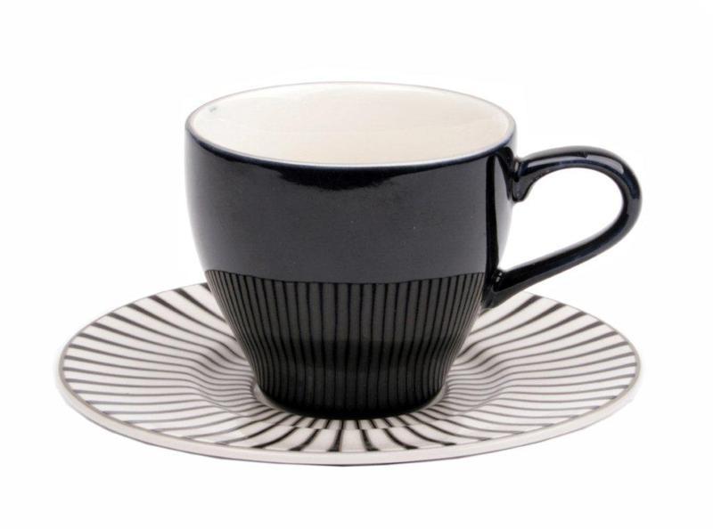 Interstils Espresso Zebra kopp m fat