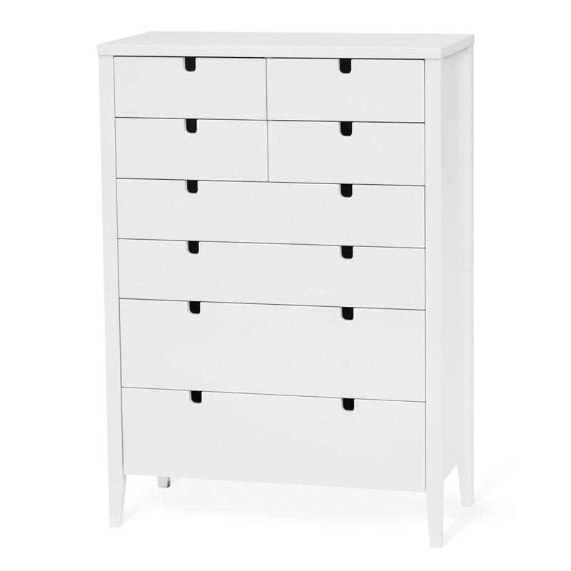 Torkelson Klinte byrå 4+4 lådor vit