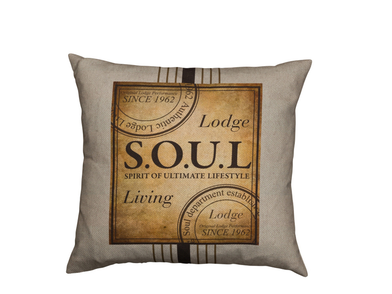 Soul Lodge emblem kudde