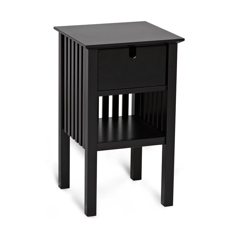 Fjällbacka sängbord svart