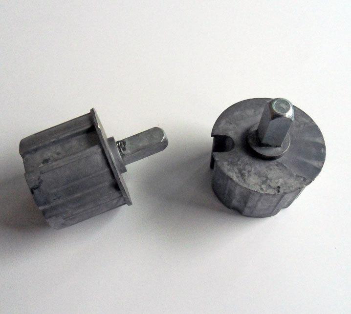 Ändtapp, 70 mm, fyrkant, ALU