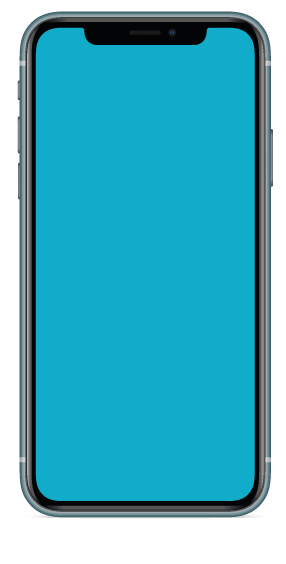 bild på en mobil med blå bakgrund och texten HLT